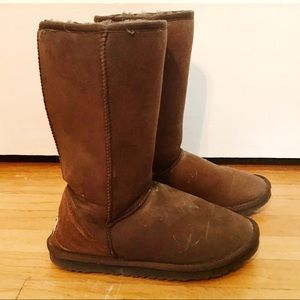 UGG Brown Pull On Boots